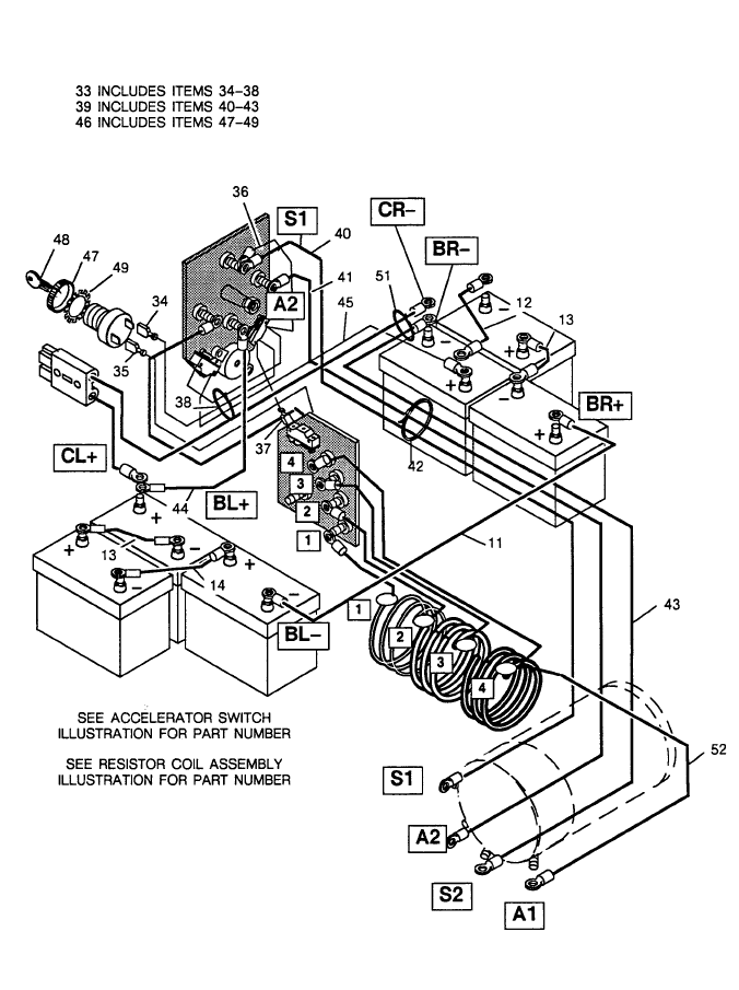 1988 ezgo wiring diagram yo 3301  1988 ez go electric golf cart wiring diagram lzk gallery  golf cart wiring diagram lzk gallery