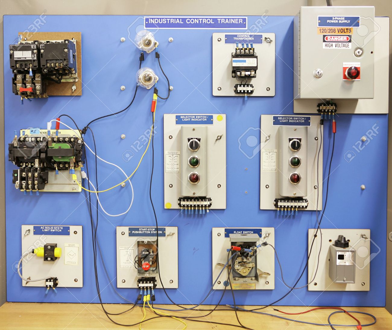 Basic Electrical Design Of A Plc Panel Wiring Diagrams: Motor Panel Board Wiring Diagram