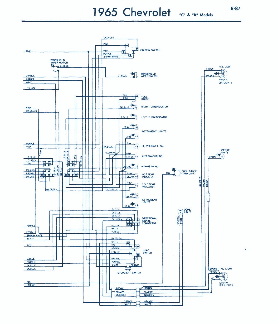 1965 Impala Wiring Diagram - Wiring Diagram