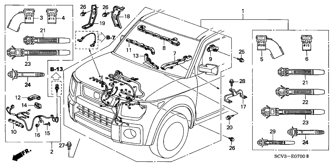 2003 honda element engine diagram  center wiring diagram