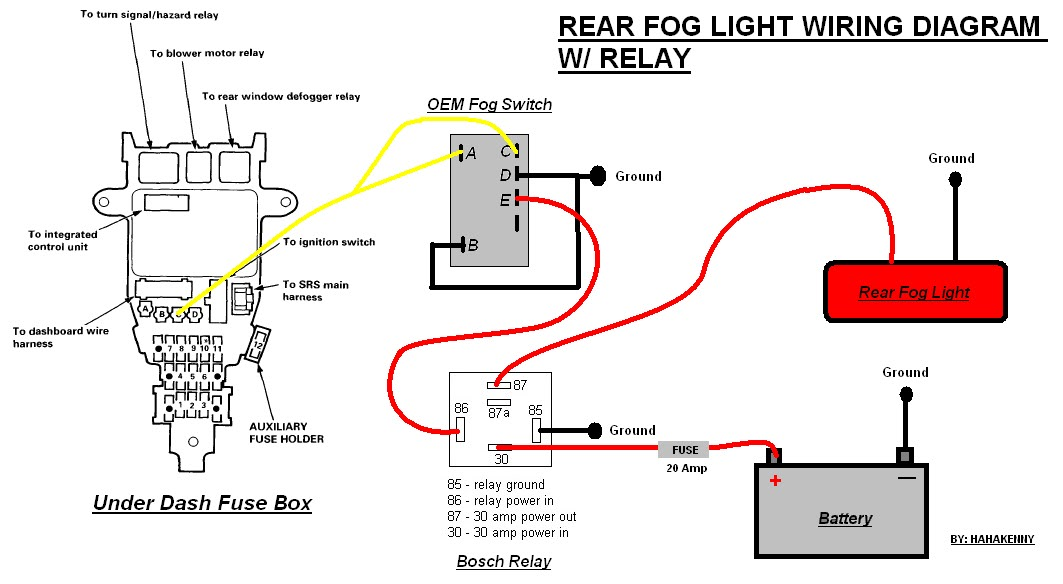 2005 honda accord driving lights wiring diagram  wiring