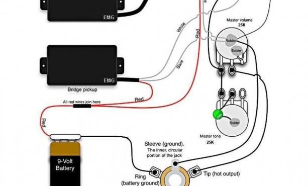 emg 1 volume wiring diagram emg pickup wiring diagram 2 volumes 1 tone wiring diagram schematics  emg pickup wiring diagram 2 volumes 1