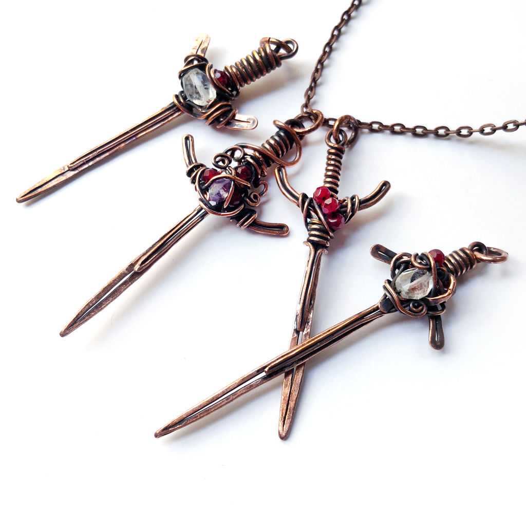 Remarkable Sword Pendant Wire Wrapped Jewelry 26 Steps With Pictures Wiring Cloud Gufailluminateatxorg