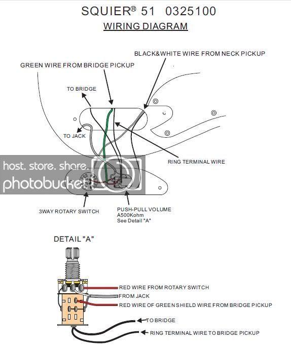 Fender Squier 51 Wiring Diagram Wiring Diagrams All