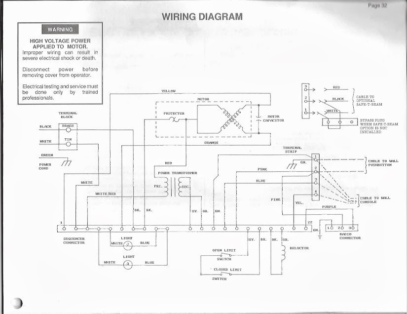 sommer garage door opener wiring diagram 4 wire generator
