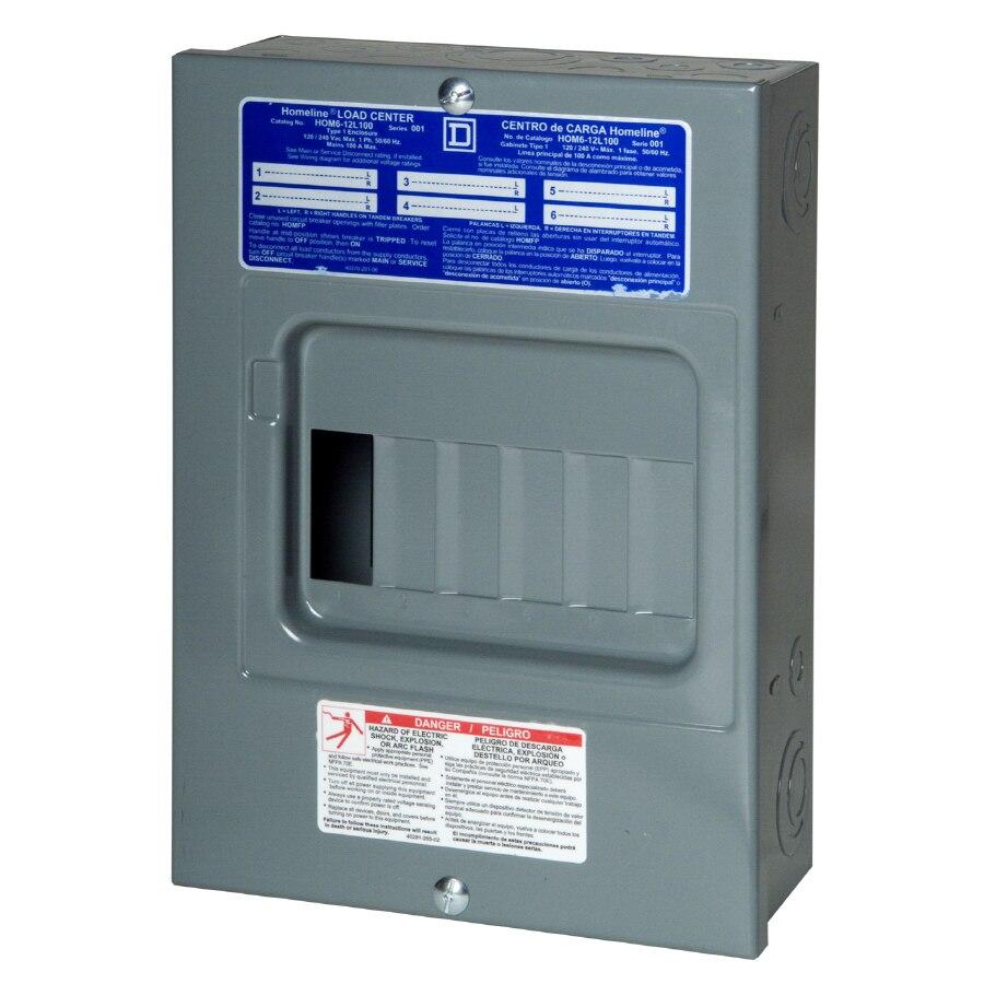 Fine Square D 12 Circuit 100 Amp Main Lug Load Center At Lowes Com Wiring Cloud Ittabisraaidewilluminateatxorg