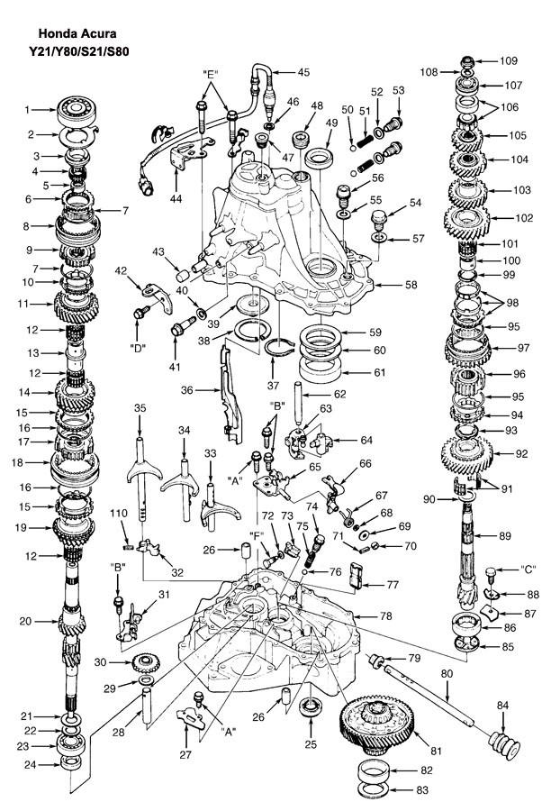 Df 4958  2001 Honda Civic Transmission Diagram Wiring Diagram