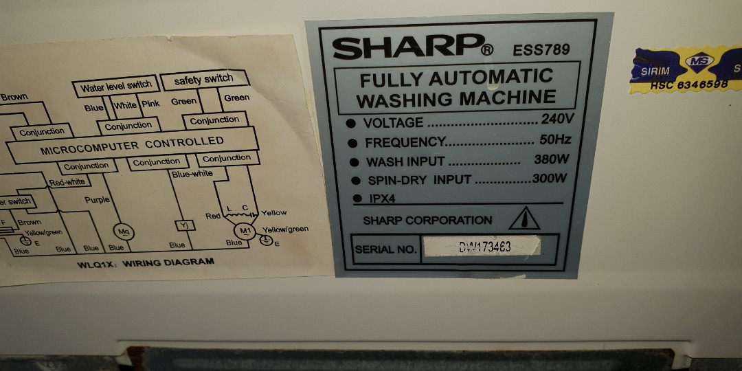 Kg 5223 Wiring Diagram Of Sharp Washing Machine Free Diagram
