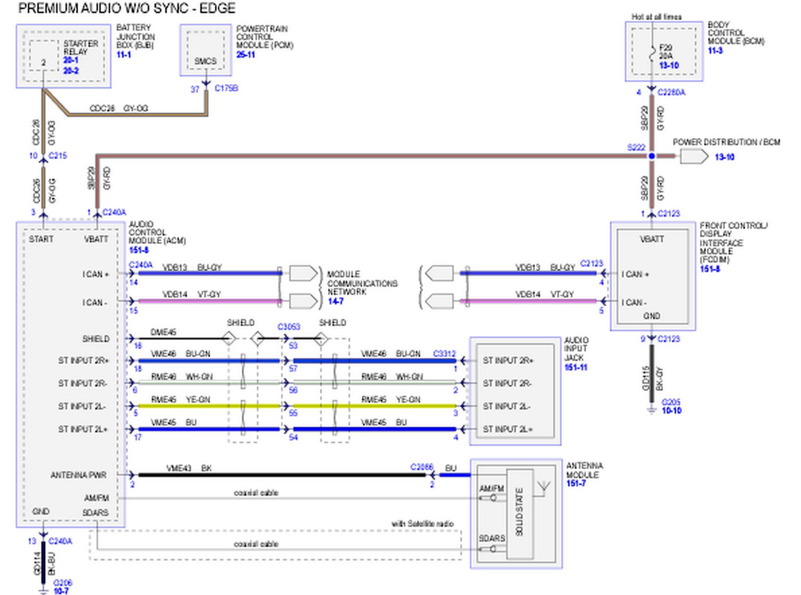 2007 Ford Fusion Radio Wiring Diagram