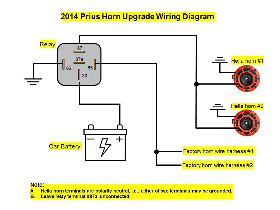 Wm 1780 Horn Wiring Diagram With A Relay Schematic Wiring