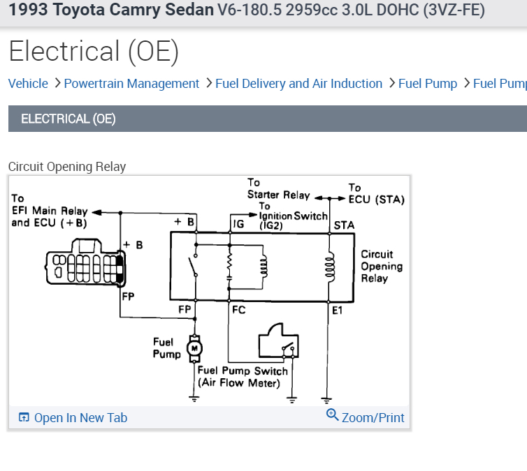 1993 Toyota Corolla Ignition Wiring Diagram