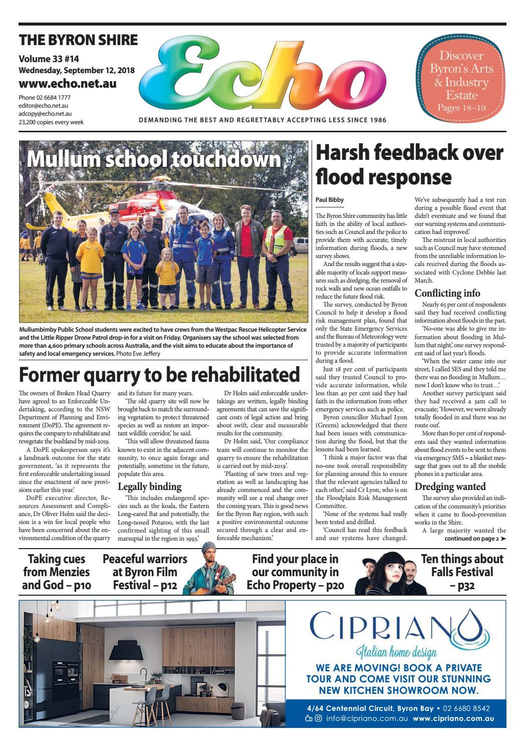 Fine The Byron Shire Echo Issue 33 14 September 12 2018 By Echo Wiring Cloud Gufailluminateatxorg