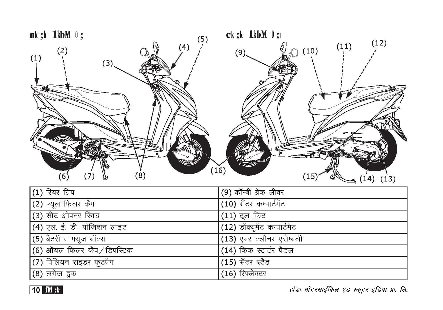 Honda Dio Moped Wiring Diagrams   Fuel System Wiring Diagram ...