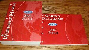Excellent 2007 Ford Focus Shop Service Manual Wiring Diagram Set 07 Ebay Wiring Cloud Loplapiotaidewilluminateatxorg