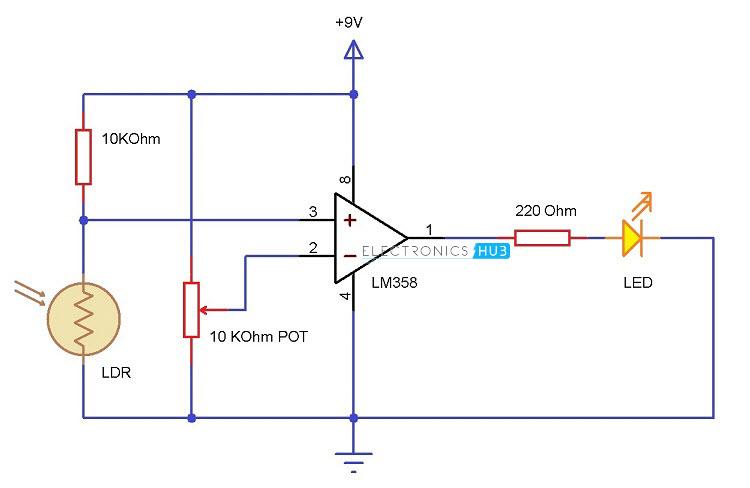 Miraculous Light Detector Using Ldr Wiring Cloud Inklaidewilluminateatxorg