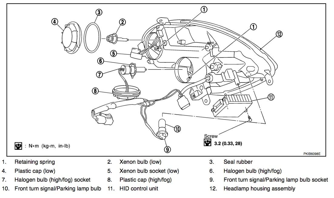 2004 Infiniti G35 Headlight Wiring Diagram