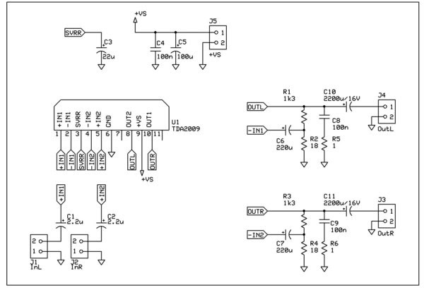 Astounding Microcontroller And Electronics Projects A Stereo 2X10W Tda2009 Wiring Cloud Icalpermsplehendilmohammedshrineorg