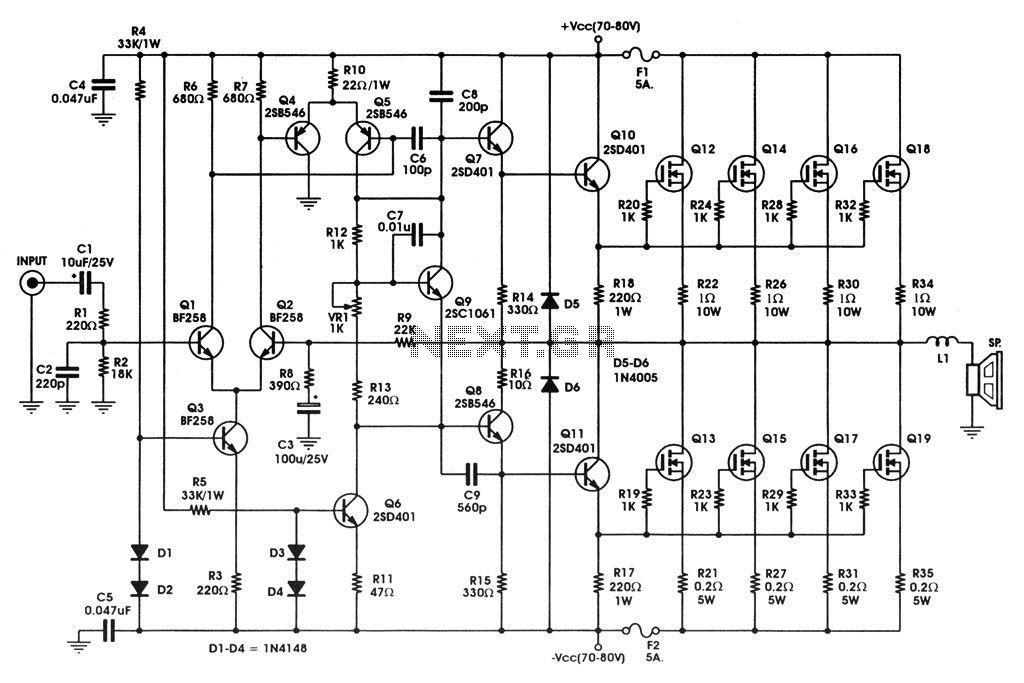 [DIAGRAM_4FR]  OH_8332] Audio Amplifier Circuit Diagram 1000W Schematic Wiring | Dc12v Audio 1000w Amplifier Circuit Diagrams |  | Nekout Ponol Sple Dylit Iness Semec Mohammedshrine Librar Wiring 101