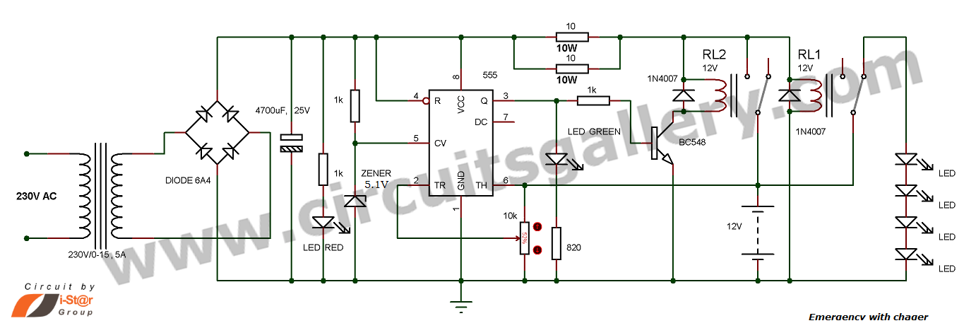 Awesome Simple Emergency Light Circuit With Automatic Charger Circuits Gallery Wiring Cloud Icalpermsplehendilmohammedshrineorg