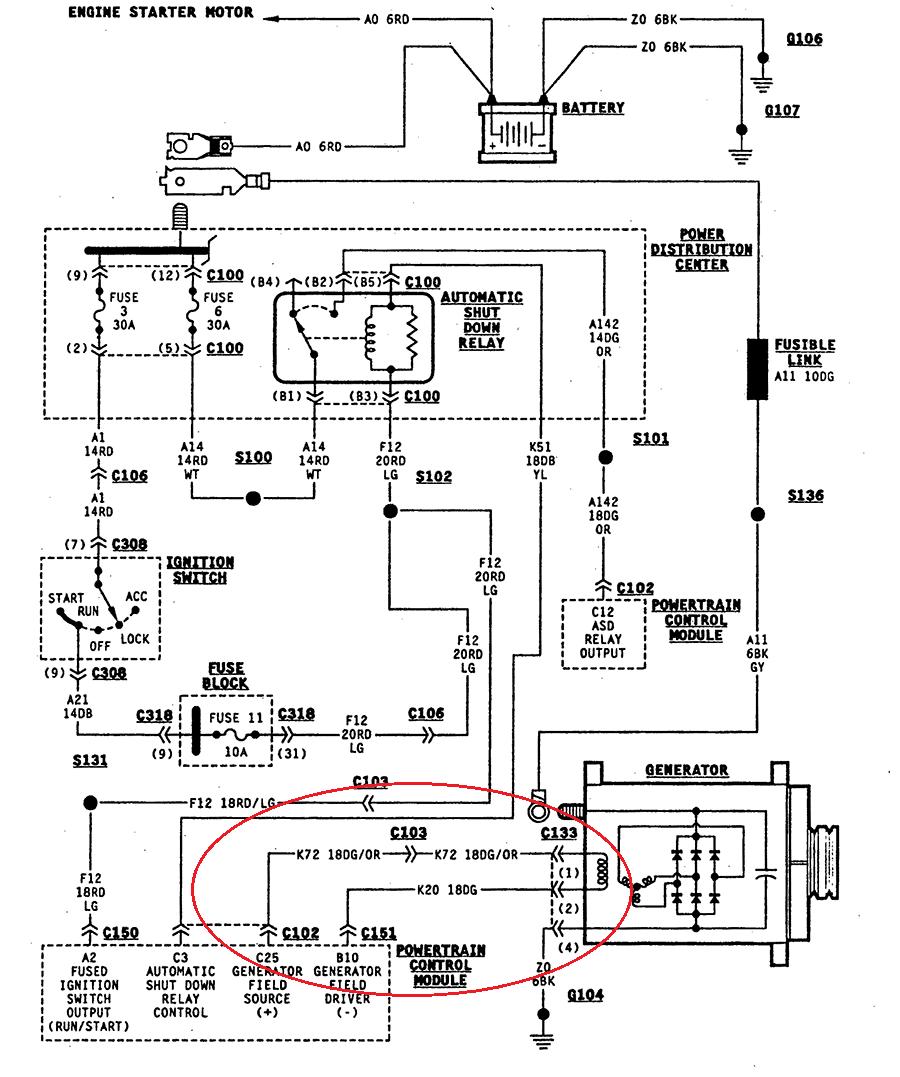 Wondrous Xj Alternator Wiring Diagram Wiring Diagram Tutorial Wiring Cloud Picalendutblikvittorg