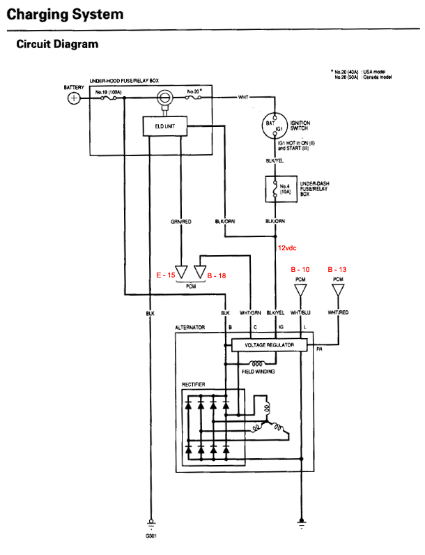 Wondrous Honda Alternator Wiring Diagram Wiring Diagram Data Wiring Cloud Hemtshollocom