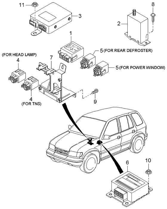 2001 Kia Sportage Power Window Wiring Diagram