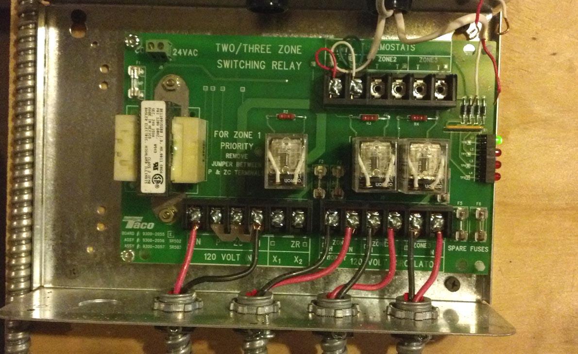 Taco Zone Valve Control Wiring Diagram
