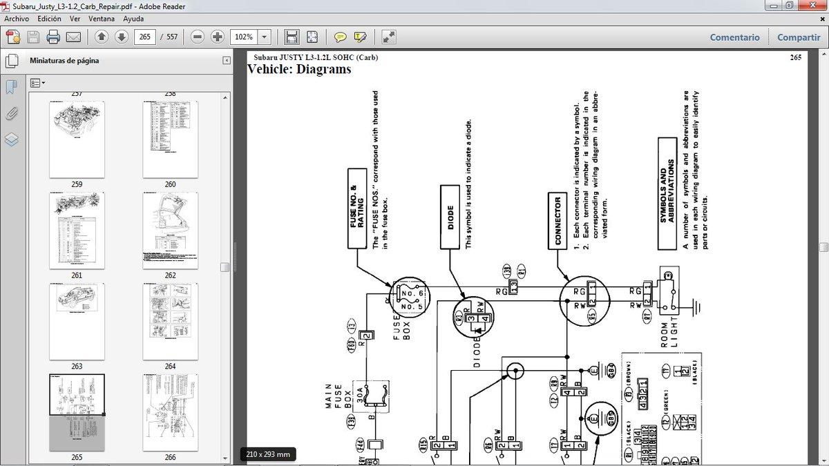 Ym 5932  Subaru Justy Wiring Schematic Free Diagram