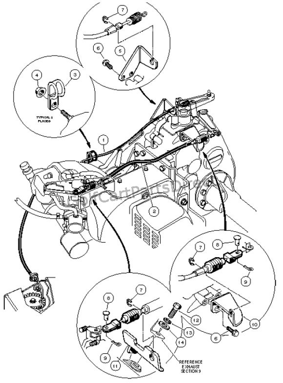 LR_5110 Club Car Throttle Cable Diagram Free Diagram