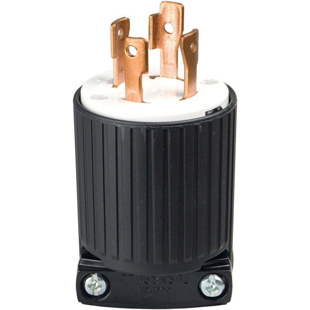 Astonishing Eaton 30 Amp 125 250 Volt 4 Wire Twist Lock Plug Black L1430P The Wiring Cloud Inklaidewilluminateatxorg