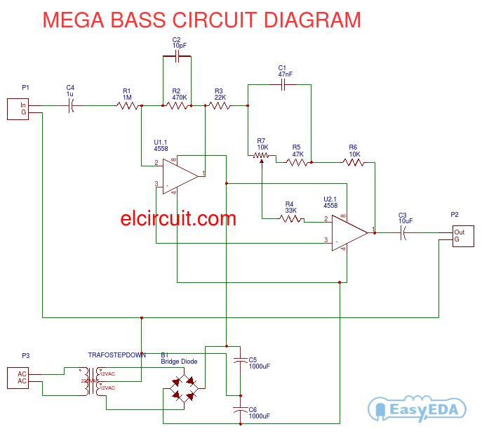 Phenomenal Mega Bass Circuit Using 4558 Hubby Project Diy Amplifier Wiring Cloud Staixaidewilluminateatxorg