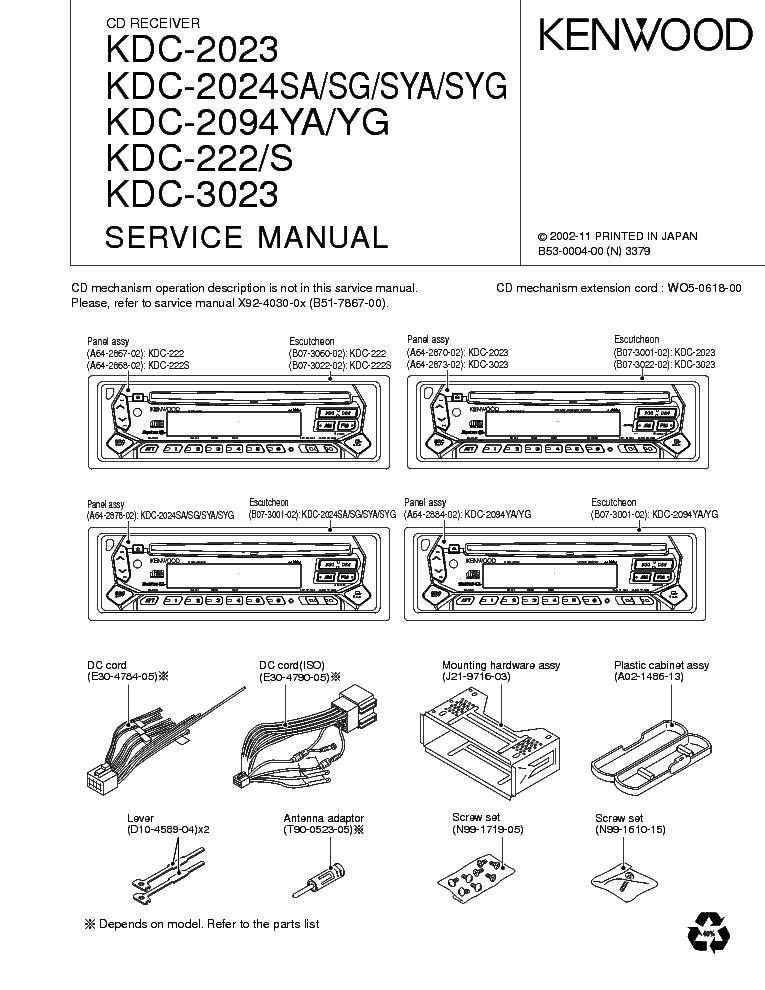 Gn 8212 Kenwood Kdc 222 Wiring Diagram
