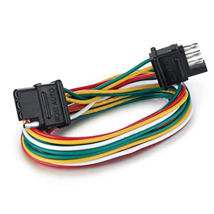 Brilliant Amazon Com Rosi 6Ft 4 Wire 4 Flat Trailer Light Wiring Harness Kit Wiring Cloud Overrenstrafr09Org