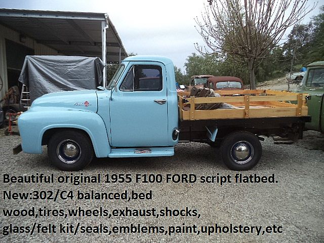 Brilliant 1955 Ford F100 Flatbed For Sale San Diego California Wiring Cloud Eachirenstrafr09Org
