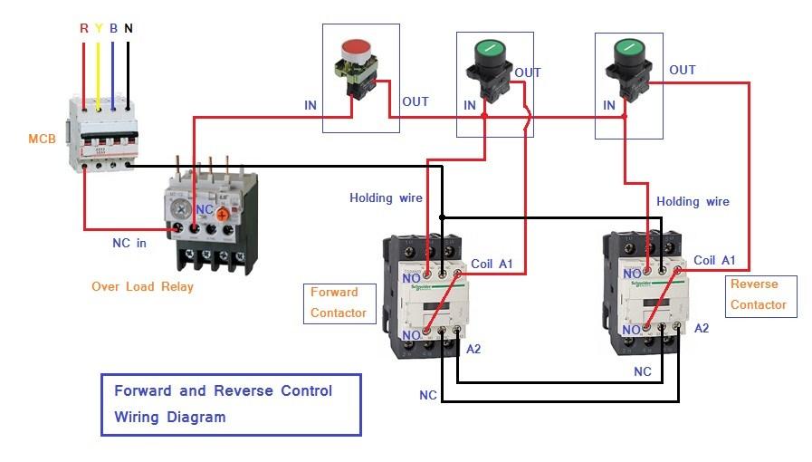 Motor Control Schematic Diagram Forward Reverse