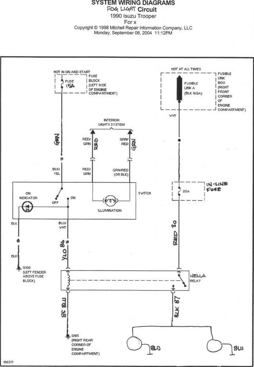 Zs 4506 Isuzu Fog Lights Wiring Diagram Free Diagram