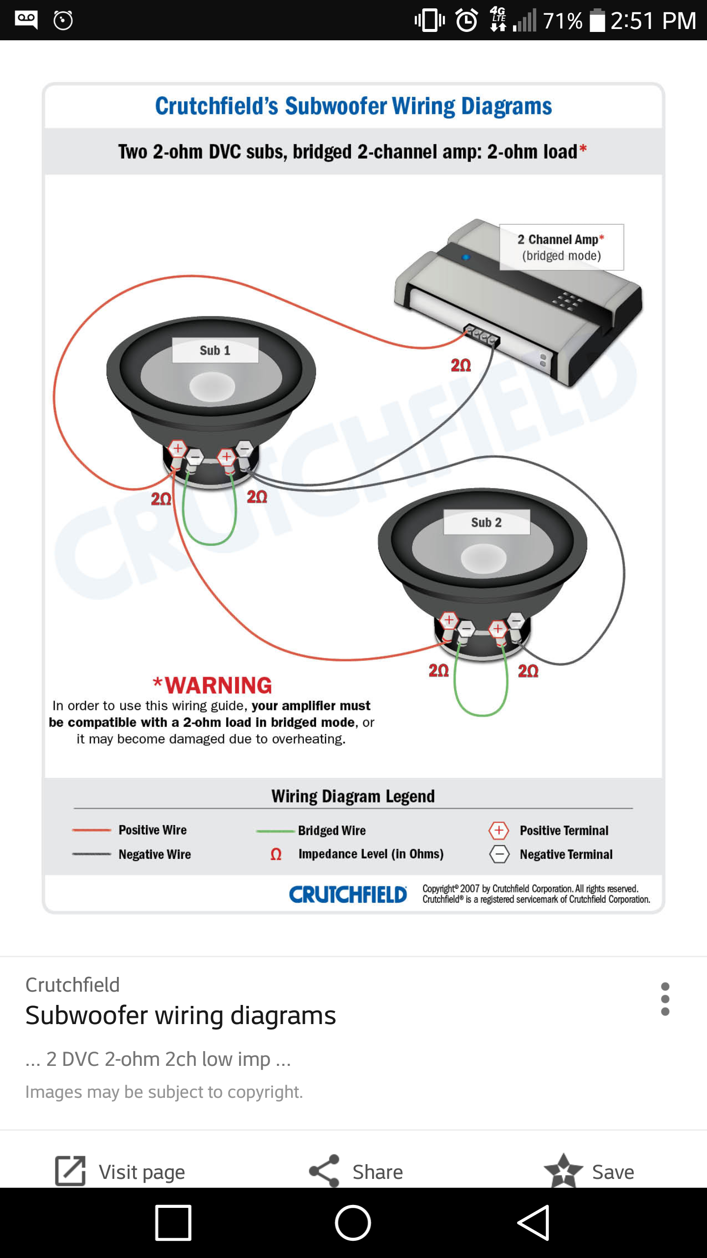 Zr 6909 Wiring 2 Dvc Ohm Subs To A Channel Amp