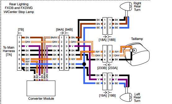 mx3398 harley davidson wiring tail light signal free