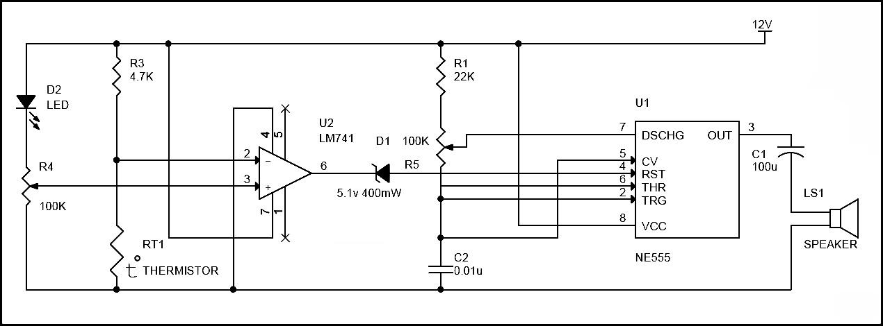 Cool Simple Fire Alarm Circuit Using Thermistor Germanium Diode And Lm341 Wiring Cloud Histehirlexornumapkesianilluminateatxorg