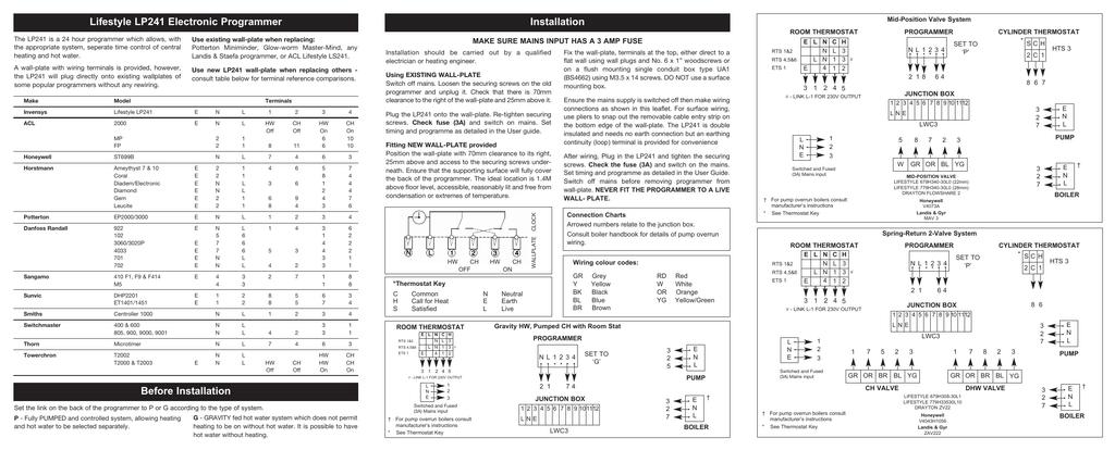 Drayton Lp522 Programmer Wiring Diagram