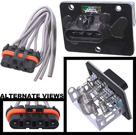 Pleasing Amazon Com Apdty 084514 Blower Motor Resistor Kit W Wiring Harness Wiring Cloud Lukepaidewilluminateatxorg