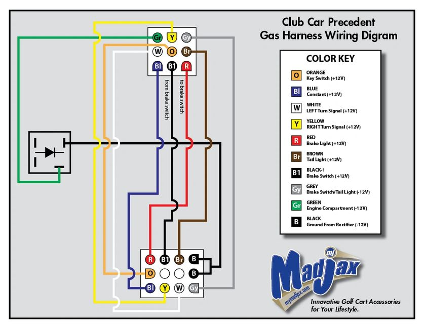 club car light wiring diagram td 3722  club car precedent brake light wiring diagram schematic club car precedent light wiring diagram 48 volt club car precedent brake light wiring