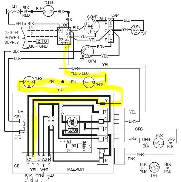tk8674 air energy heat pump wiring diagram schematic