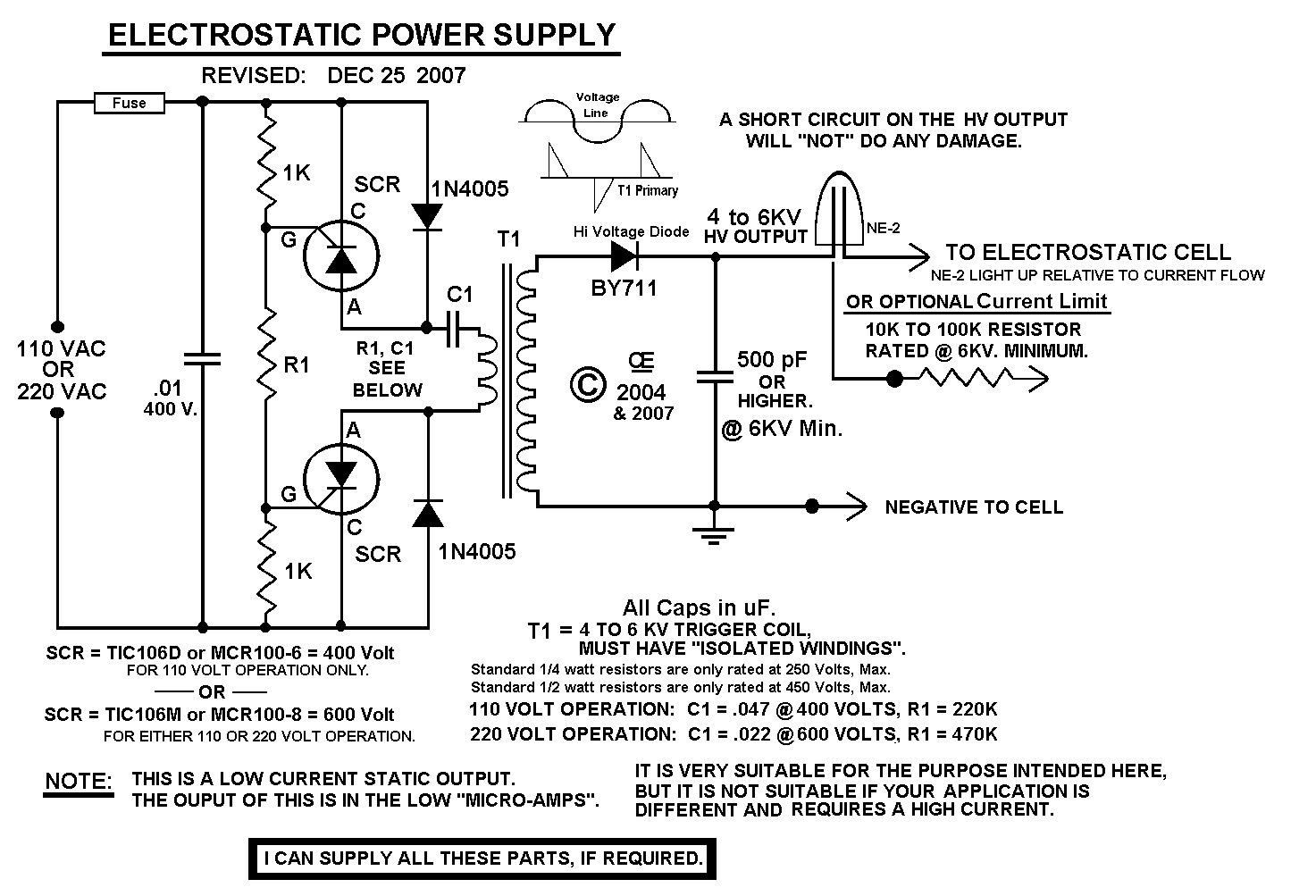 Ionic Air Filter Wiring Diagram