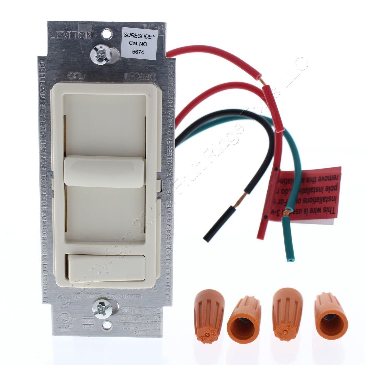 Vr 4369 Supplies Wiring Supplies Leviton Sureslide Dimmer Switch Almond Schematic Wiring