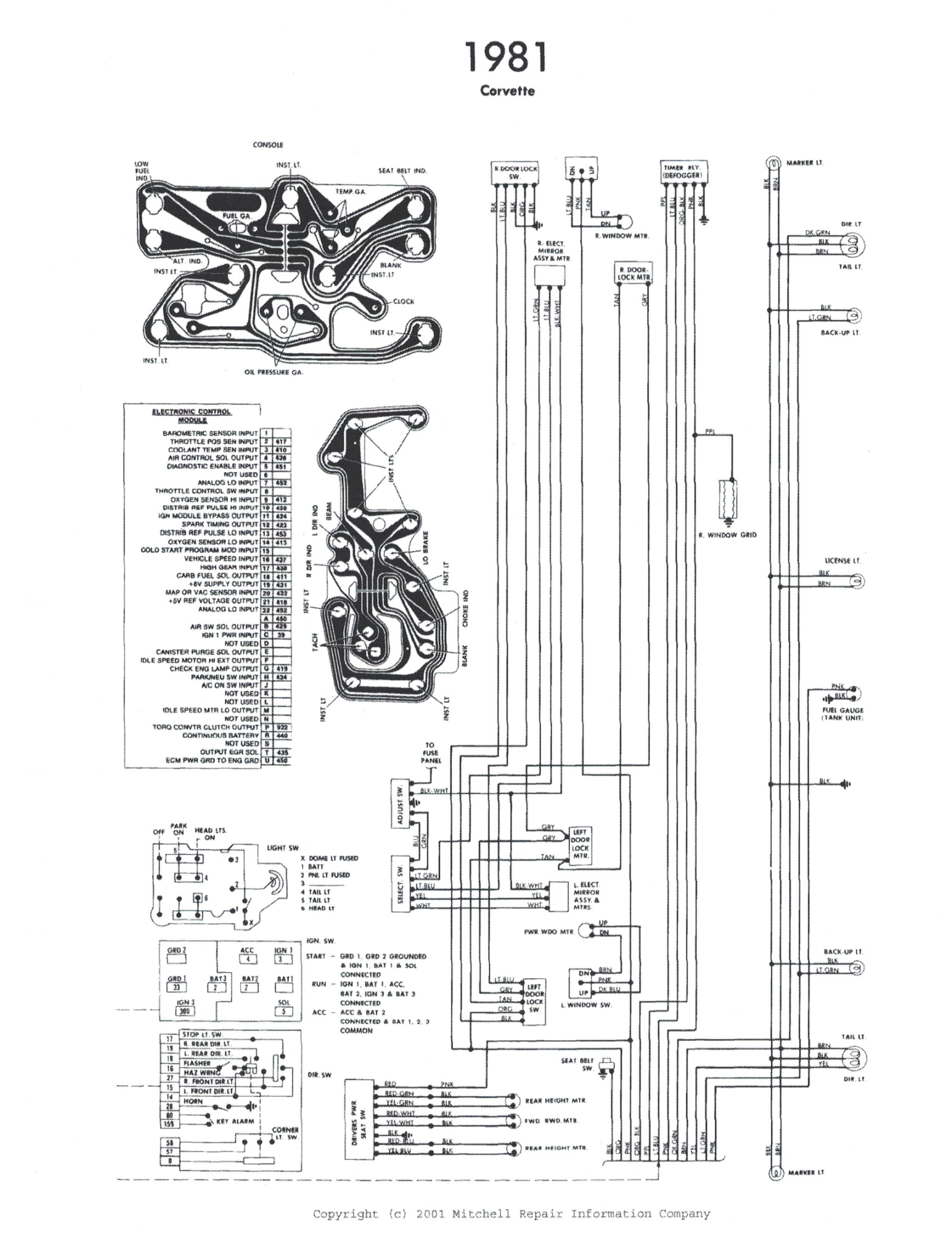 1981 Corvette Wiring Diagram Pdf