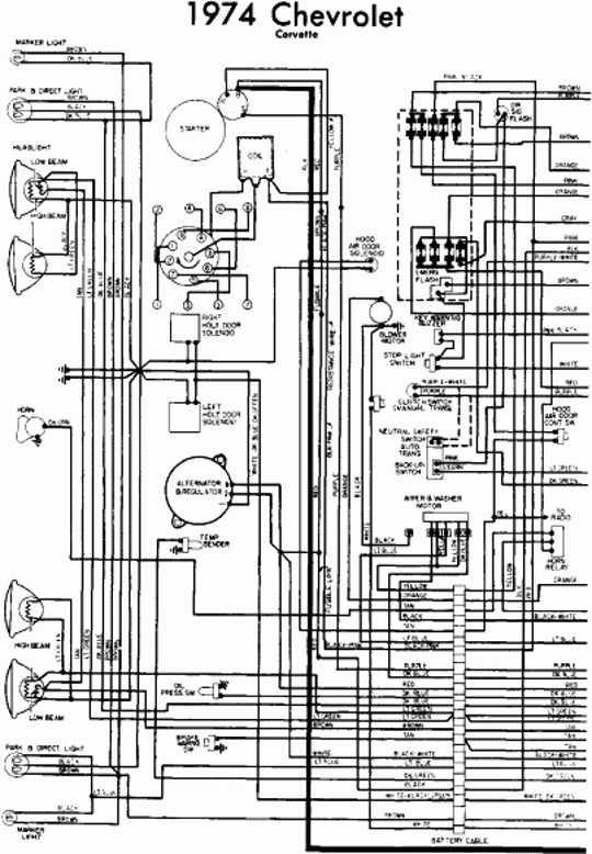 74 Corvette Wiring Schematic - Jeep Tj Parking Wiring for Wiring Diagram  SchematicsWiring Diagram Schematics