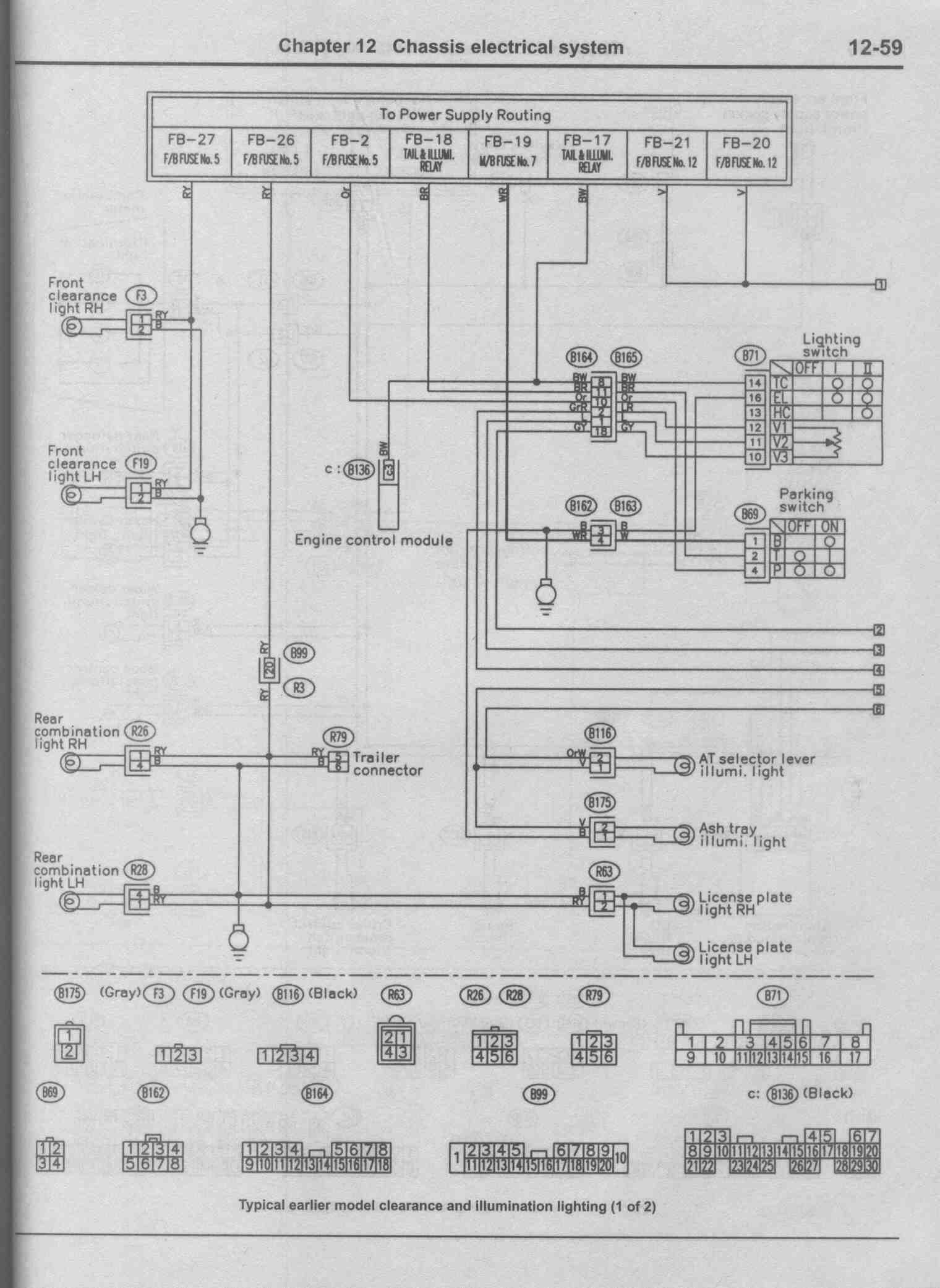 1998 Subaru Forester Wiring Diagram