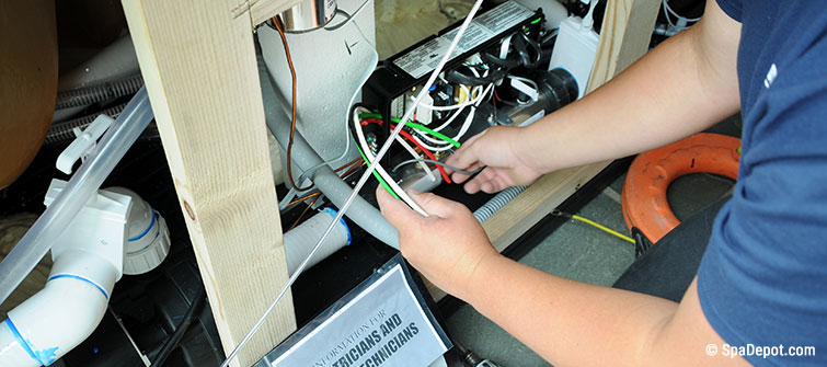 Cool How To Wire A Spa Wiring For 120V And 240V Hot Tubs Spadepot Com Wiring Cloud Itislusmarecoveryedborg