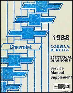 Fabulous 1988 Chevy Corsica Beretta Electrical Diagnosis Manual Wiring Wiring Cloud Monangrecoveryedborg